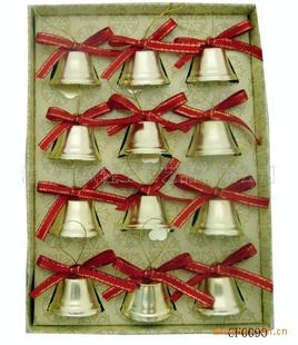 浙江义乌市小铃铛挂件  圣诞铁铃铛 礼品挂件 圣诞节用品 厂家直销 圣诞铃铛