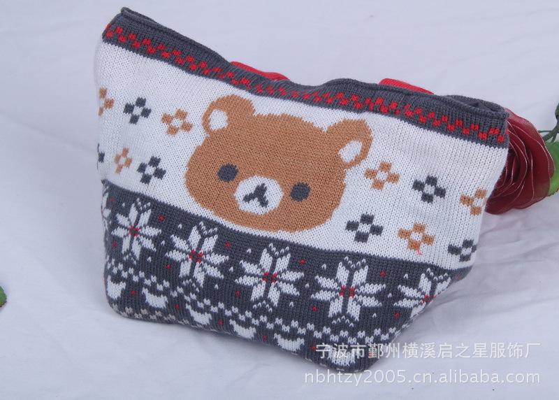 式时尚休闲睛纶毛线提花针织提包图片,2011新款出口日本女式时尚