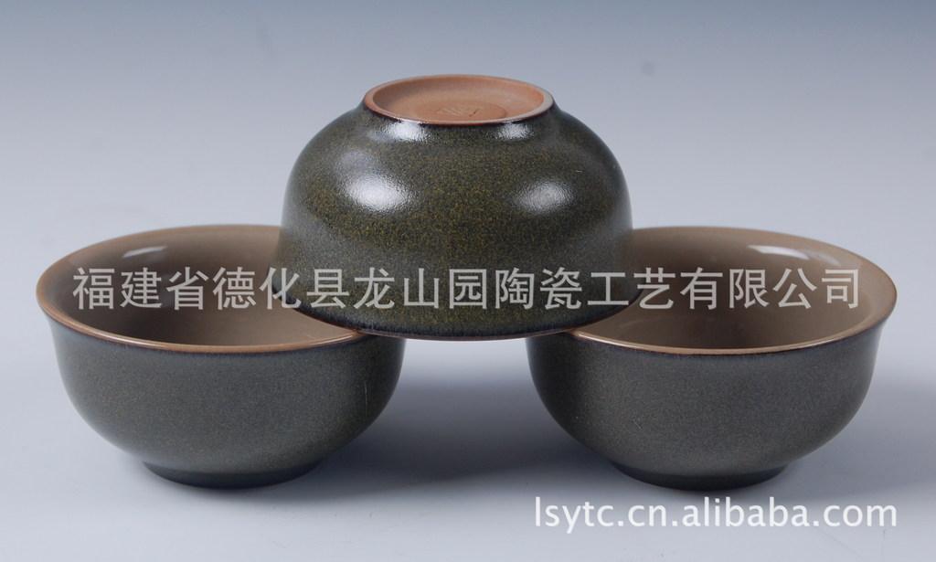 厂家直销茶具茶叶沫 橄榄绿 茶具茶杯 精品汝窑