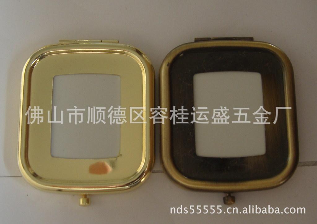 镜底镜胚,化妆镜,仿金古铜枪黑镜底厂家直销 各种滴胶面化妆镜