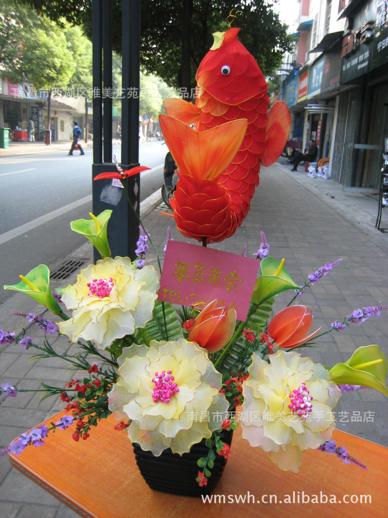 制作玫瑰花 网花 丝袜花 丝网花 丝袜 手工制作 阿里巴巴图片