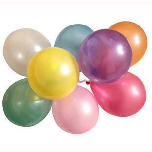 浙江宁波市批发玩具大号10寸圆形珠光气球100个装 婚庆用品结婚布置