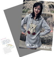 Free shipping fashion women's embroidery bear print thickening fleece hooded sweatshirt - shirts052