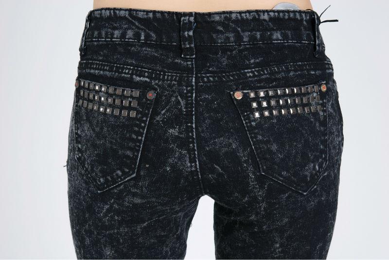 雪花牛仔女裤 加肥加大码弹力牛仔裤6277 -价格,厂家,图片,女
