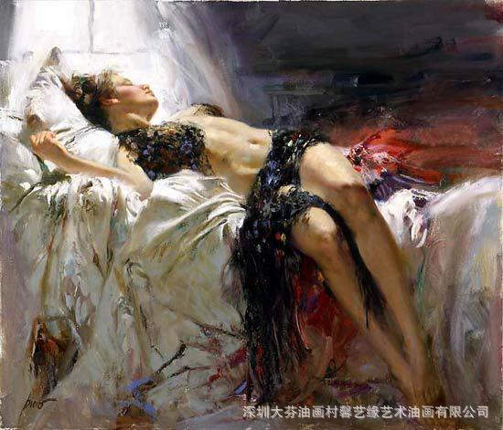 经典王祈东临摹油画 超写实精品 世界名画 -油画 中国黄页图片