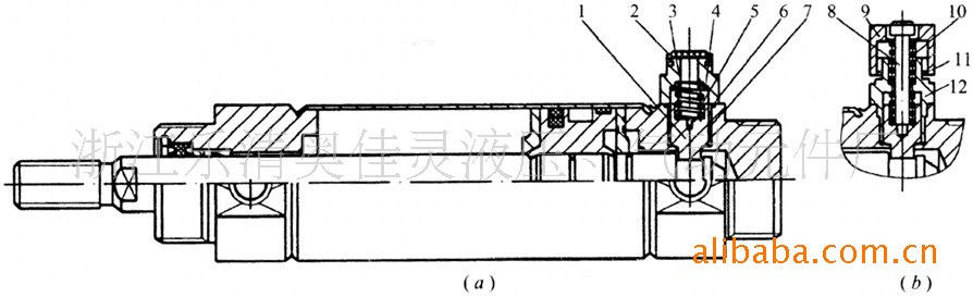 带端锁气缸的结构原理