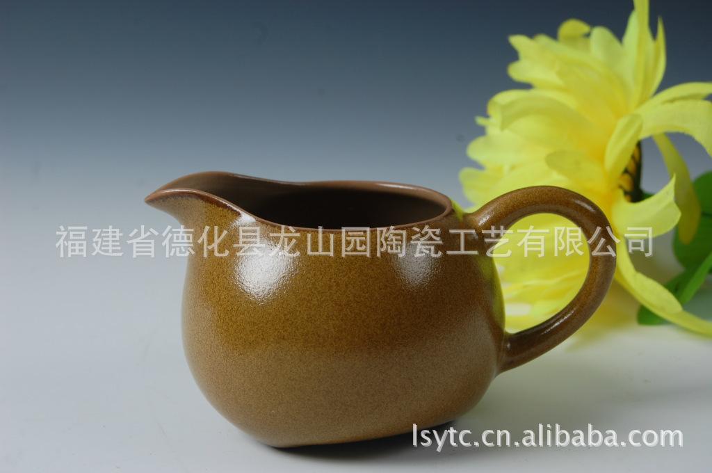 厂家直销茶具 茶叶沫 锦上黄 公道杯 壶 海 精品汝窑