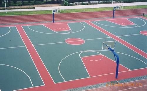 塑胶篮球场铺装 塑胶篮球场 篮球尽在阿里巴巴 青岛绿茵塑胶