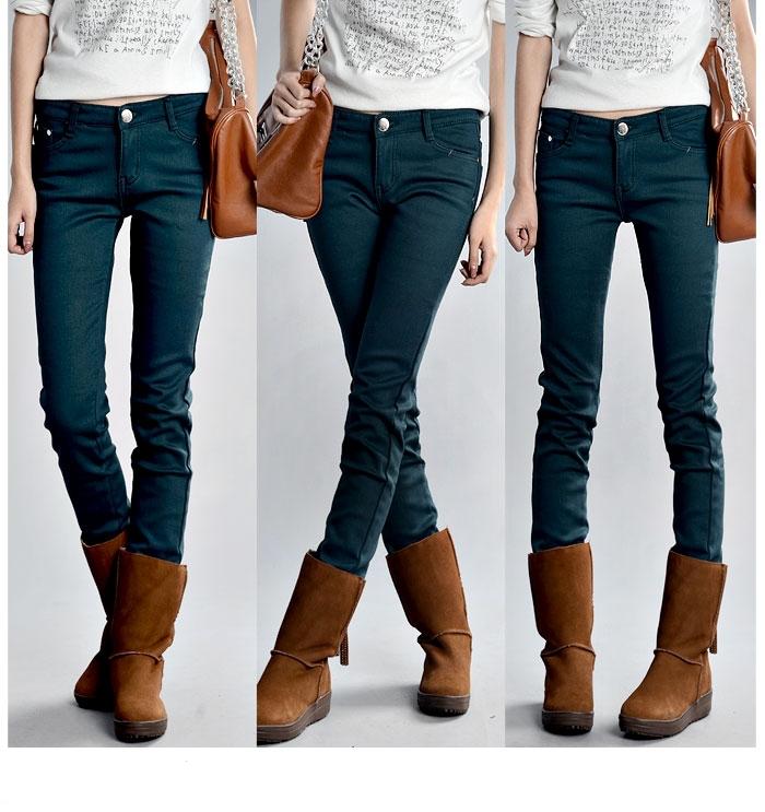 2011秋冬女裤新款 靴裤加厚加棉加绒小脚 铅笔裤