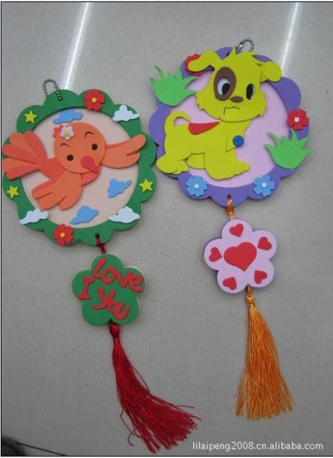 EVA双面相框贴画 手工创意DIY制作 儿童挂饰 其他益智玩具尽在