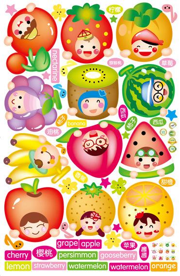 am816【卡通水果】墙贴图片