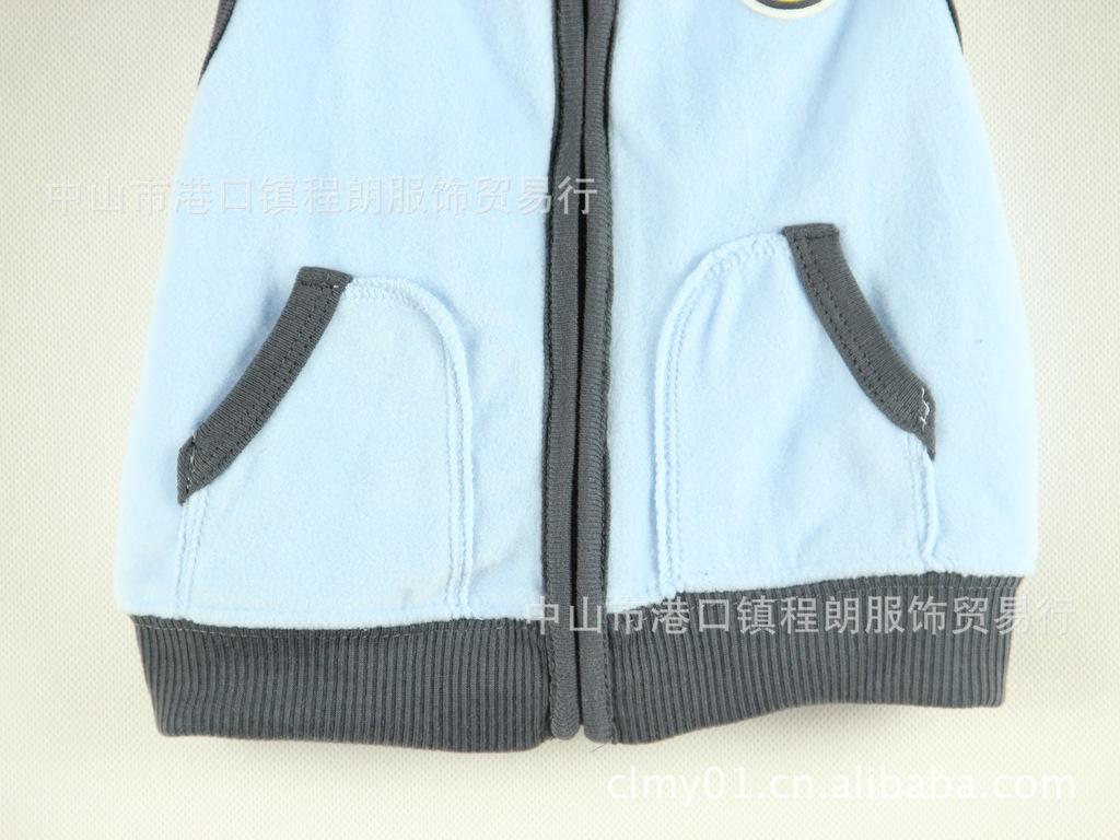 外贸原单卡 特马甲三件套儿童套装 长袖三角哈衣套装男童 -价格