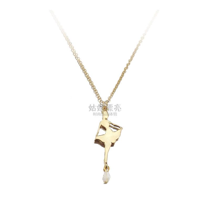 ...项链 嵌进口宝石+进口玻璃 完美金色项链 锁骨链宝石+进口玻...