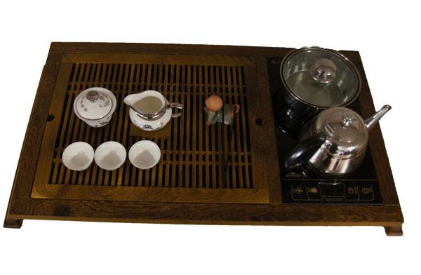 旭进茗茶/木制茶盘   黑檀木带电磁炉   八角