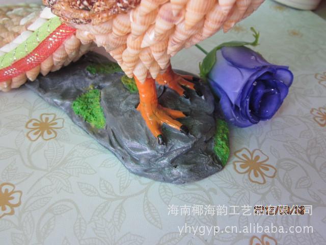 特色贝壳工艺品 家居装饰 精美贝壳动物 孔雀 创意礼品 送...