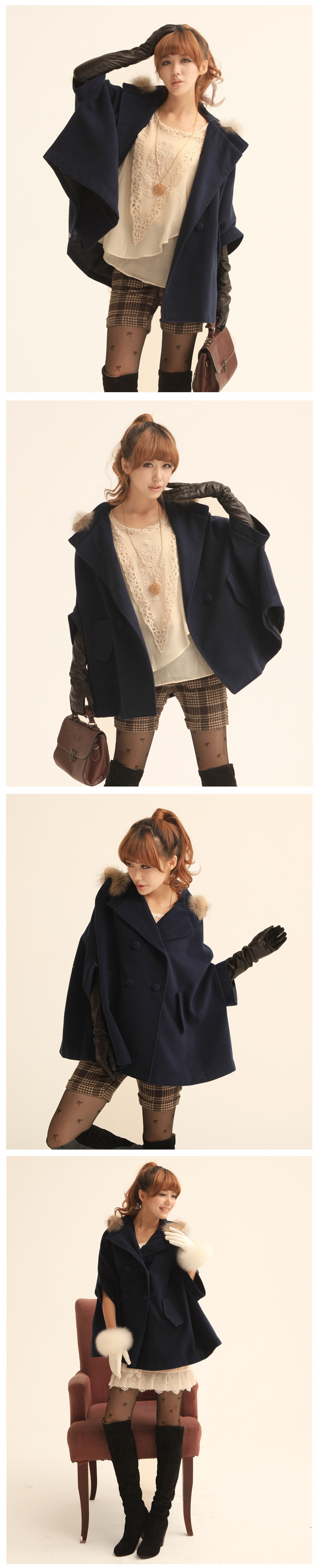 New Arrival Perfect Double-breasted Woolen Cloak