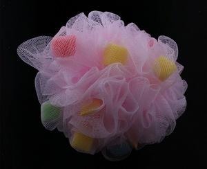 R03 大海绵浴球 沐浴用品 沐浴海绵球 多彩 浴花 浴擦 重量38克