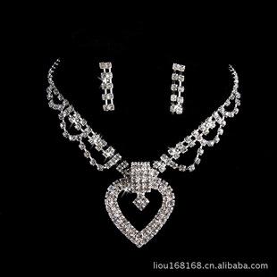 饰品批发 水钻项链 时尚饰品 项链批发  珠宝首饰