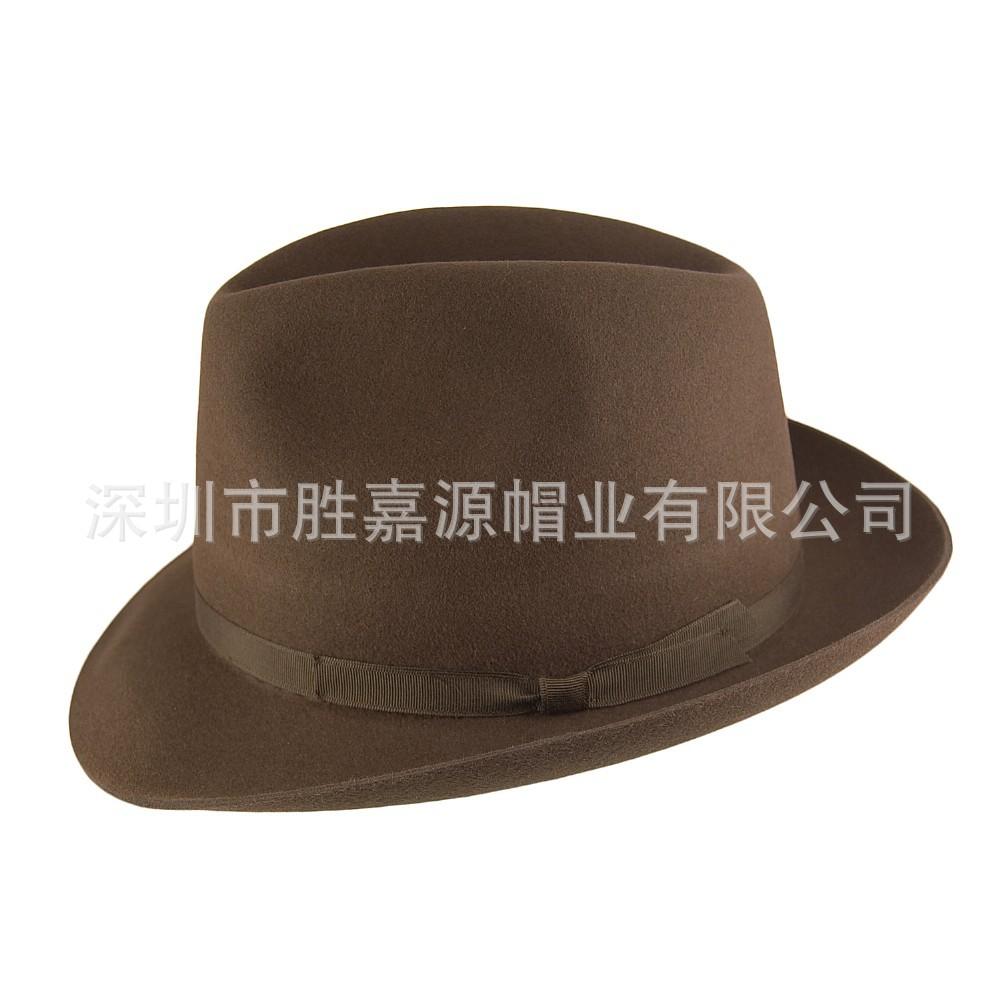 专业定制西部牛仔礼帽子 羊毛毡帽 空姐帽子 定型羊毛帽子
