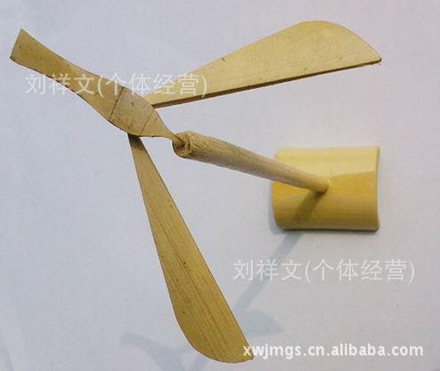 手工竹平行 平衡竹蜻蜓 diy玩具/儿童玩具 竹木制 旅游工艺品