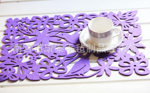 纺布雕花餐垫 长方形创意镂空 餐垫 隔热垫 盘垫茶杯垫图片,康泰直