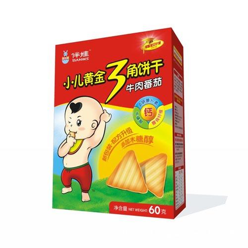 伴娃婴幼儿辅食 营养点心 三角饼干系列 牛肉番茄 招商代理