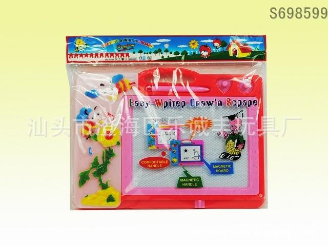 批发供应益智系列, 儿童文具类玩具, 小熊磁性写字板opp袋