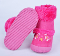 Детские ботинки 2013 winter baby girl warm zipper cotton-padded shoes snow booties boots