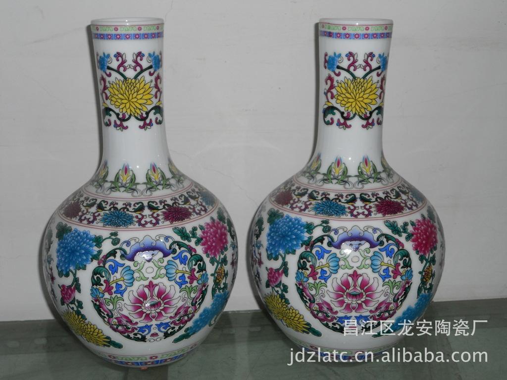 供应景德镇工艺品高档陶瓷花瓶