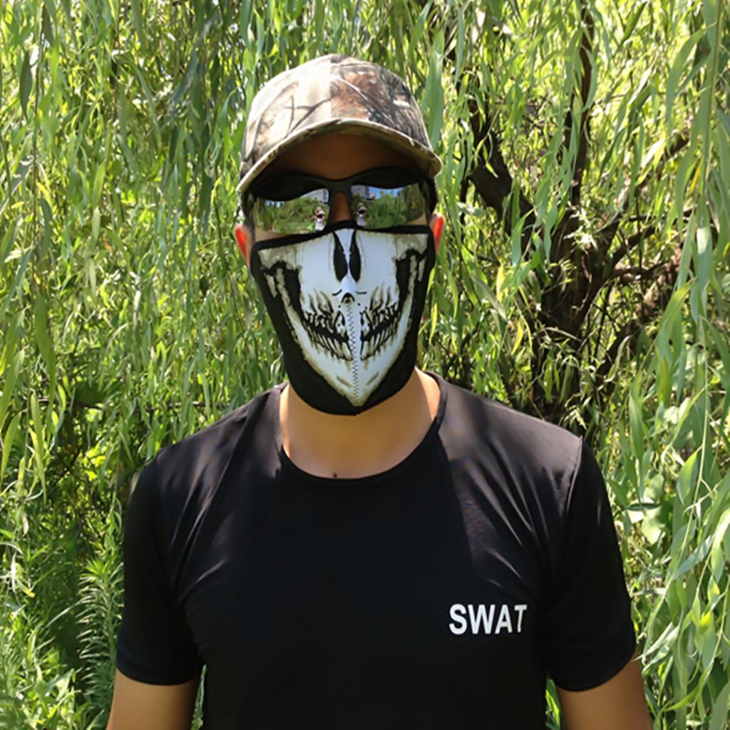 海豹特种兵骷髅头套半脸防护面罩使命召唤6骷髅护脸滑雪面具男女