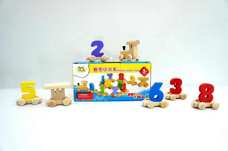 数字列车 木质玩具 木质小汽车 26个字母小汽车 托马斯小