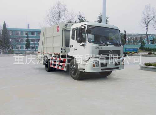青专QDZ5120ZYSED压缩式垃圾车ISDe185东风康明斯发动机