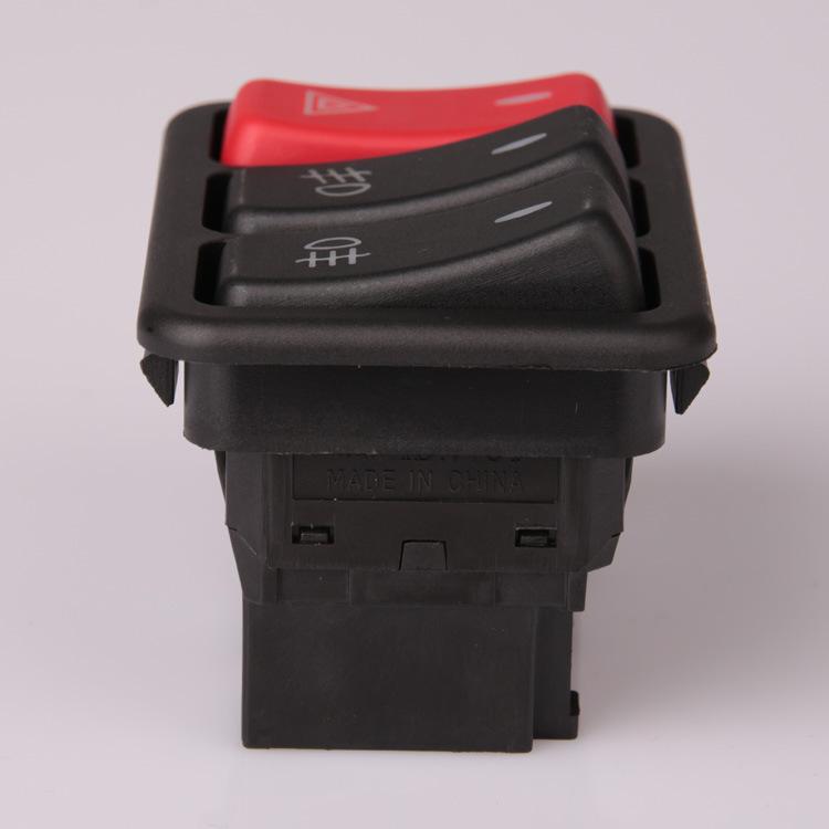 其他开关 厂家直销ISO认证汽车组合开关 JK988汽车翘板暖风开关现货高清图片