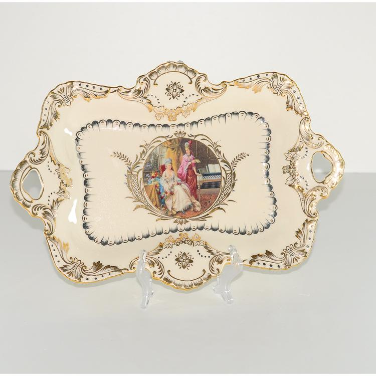 象牙瓷 纯手工描金 陶瓷水果盘 高档尊贵批发采购