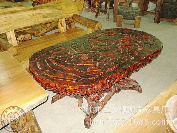 根雕圆茶几 椭圆形 天然根雕艺术品 实木家具 价格,厂家,图片,其