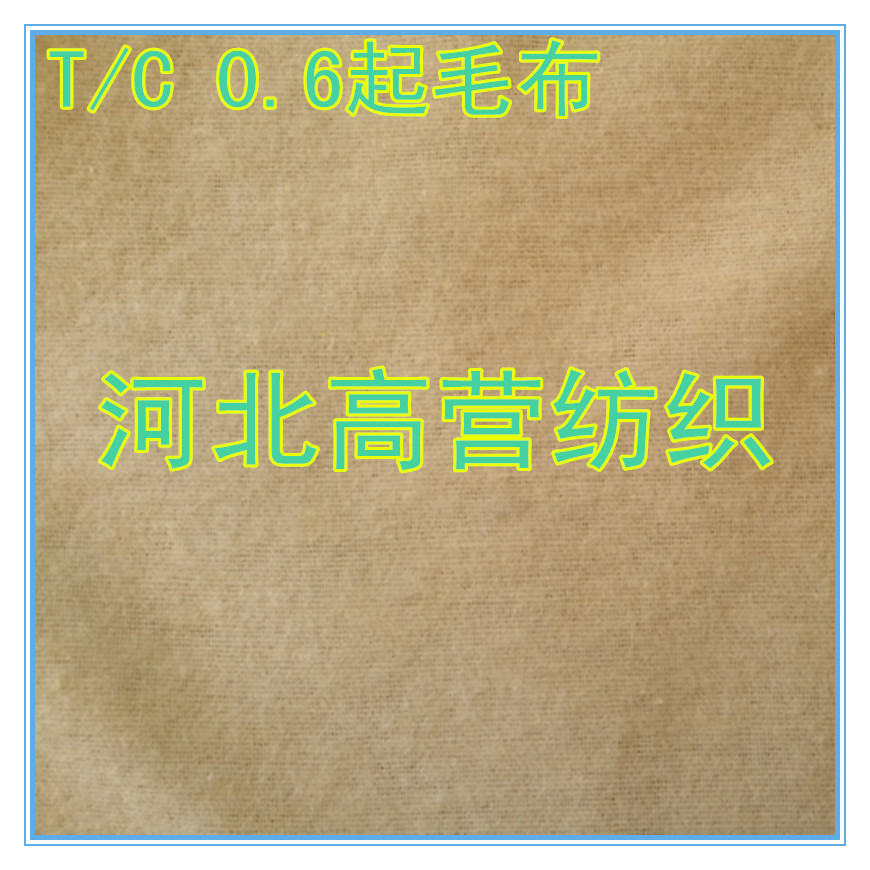 厂家***涤棉T/C0.6起毛布鞋材皮革内里补强贴合现货