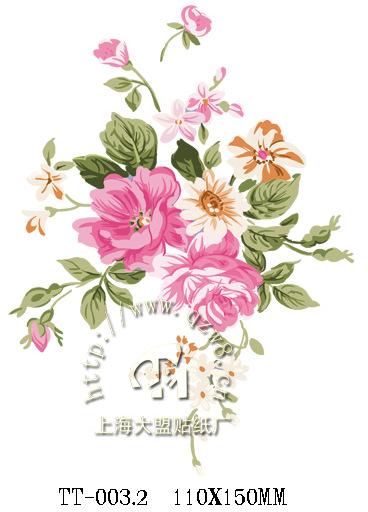 画水转印 韩式手绘衣柜床头柜相框收纳柜贴花 TT 003.2 -价格,