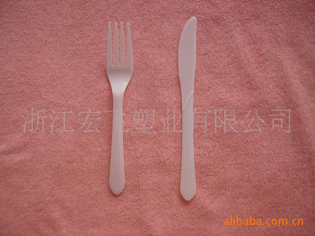 (大量供應)白色ps餐刀