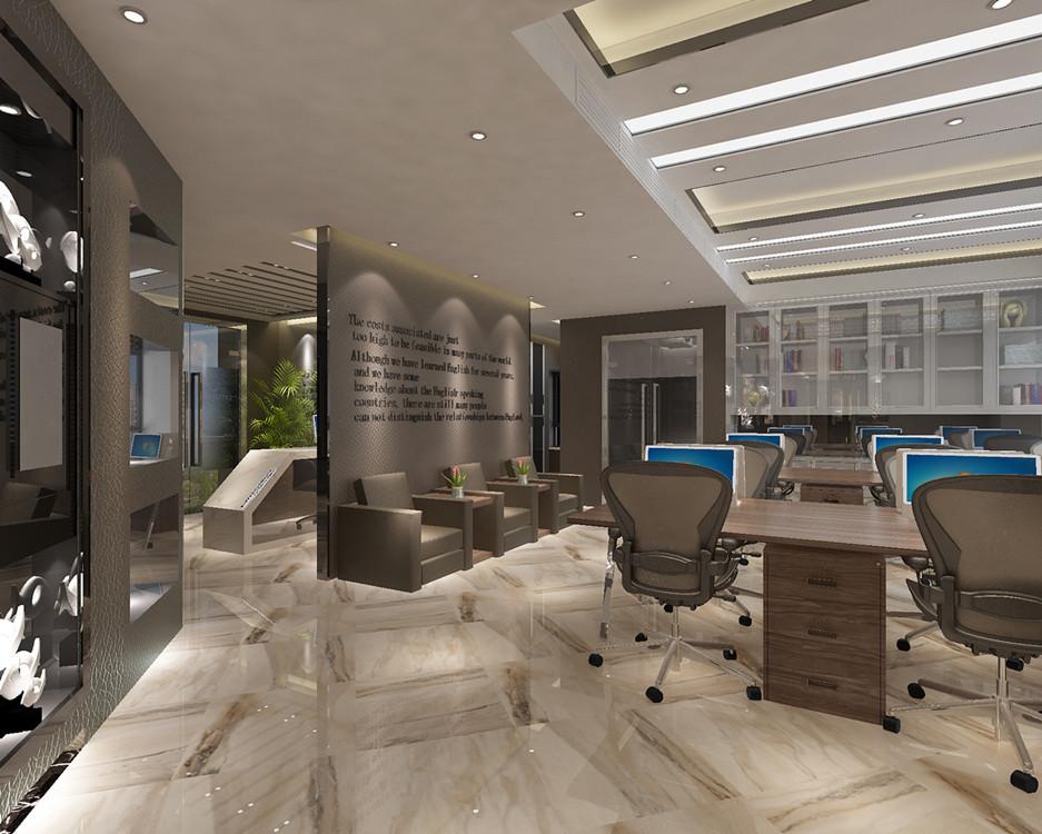 写字楼室内装修 服装办公室设计 贸易公司办公装饰装修设计效果图图片