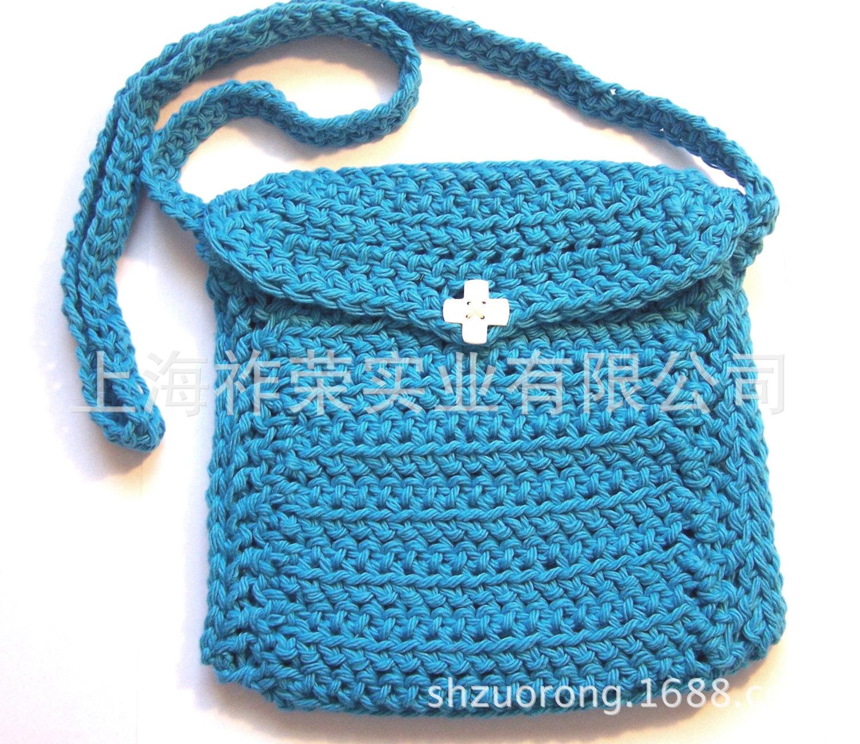 厂家加工 毛线编织包 毛线手钩包 针织手提包 纸绳编织包 毛线包价格