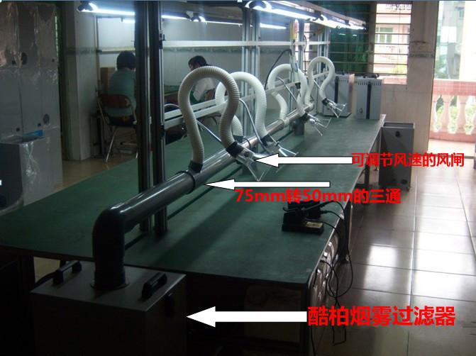 四工位焊锡现场图