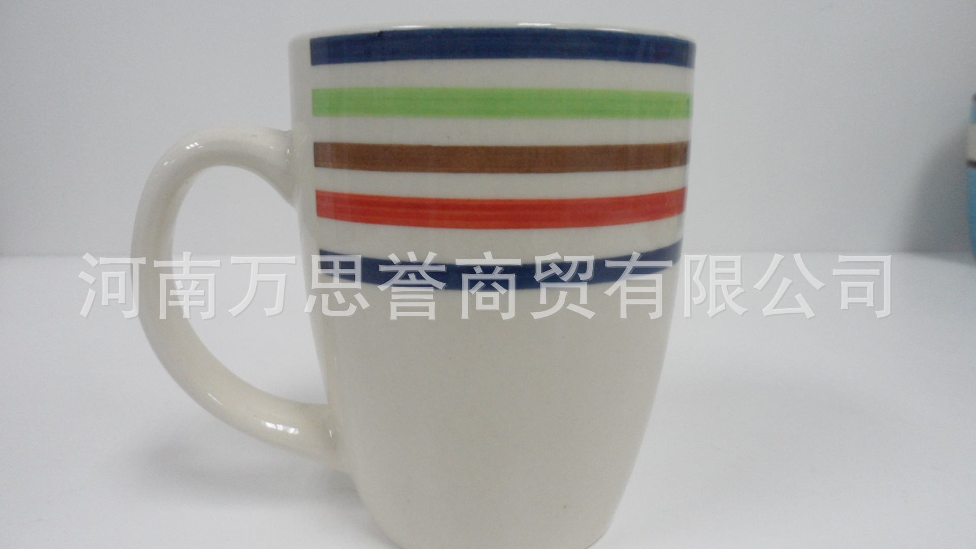 手绘炻瓷马克杯 咖啡杯