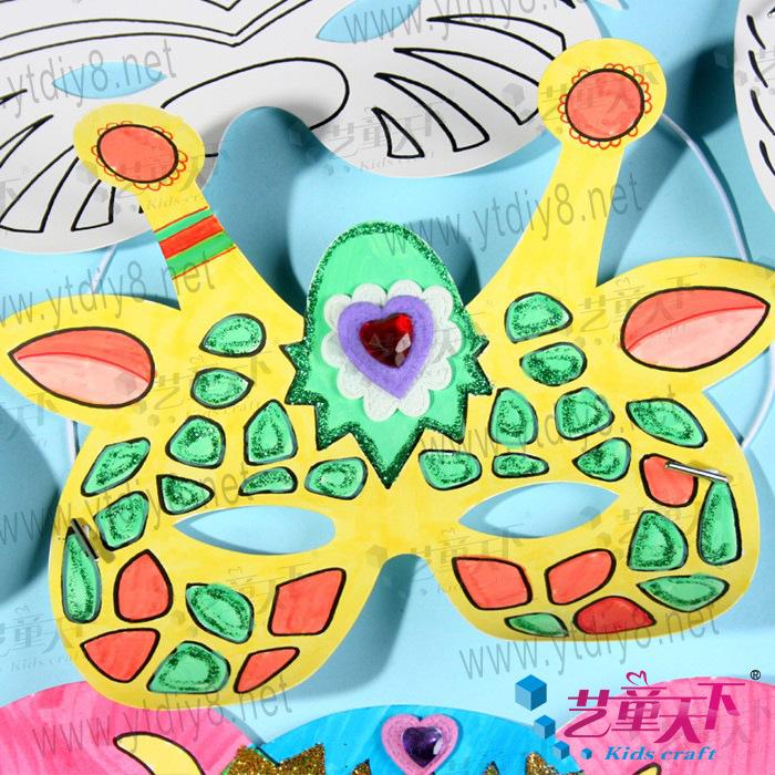 智早教玩具自制彩绘面具动物面具 其他益智玩具