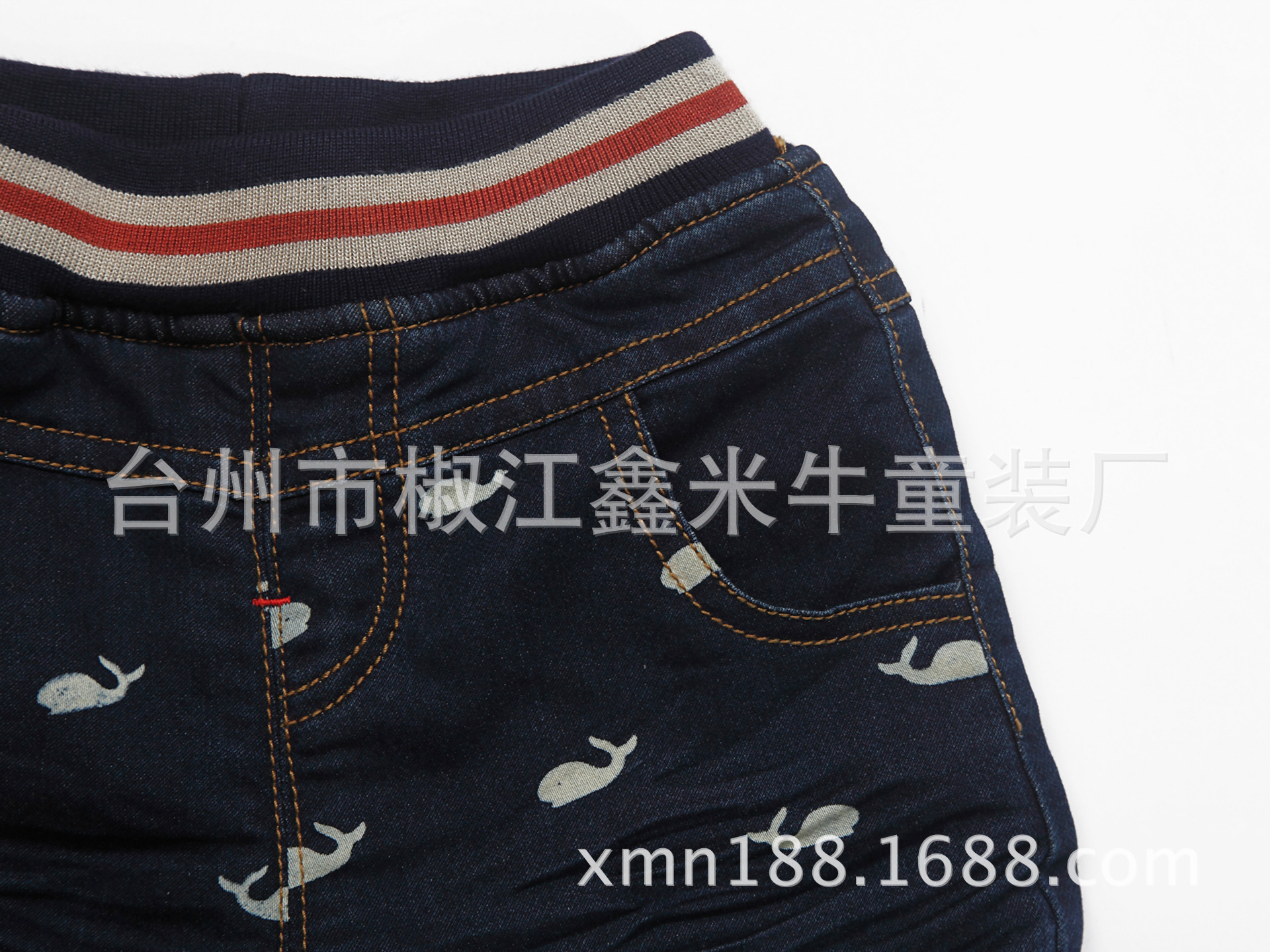 儿童牛仔裤加绒保暖856