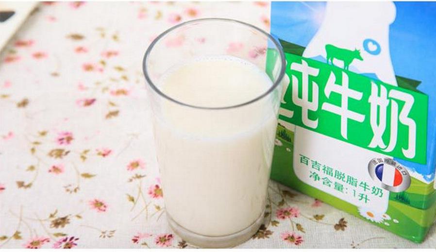 法国原装进口低脂纯牛奶-营养好喝更健康-液体乳类 正品百吉福脱脂牛图片