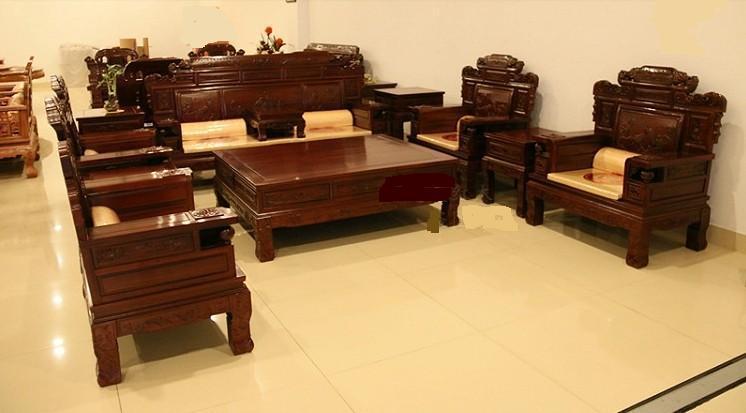 沙发类 红木家家 红木沙发 非洲酸枝 非酸财源滚滚沙发 7件 11件套 沙图片