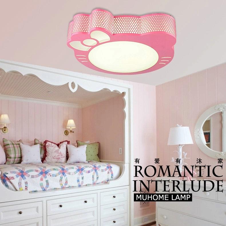 现代简约卡通儿童房温馨时尚LED卧室灯具KT猫儿童卧室吸顶灯包邮