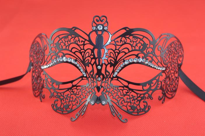 万圣节面具 金属面具 彩绘面具 舞会 万圣节 圣诞节 阿里巴巴