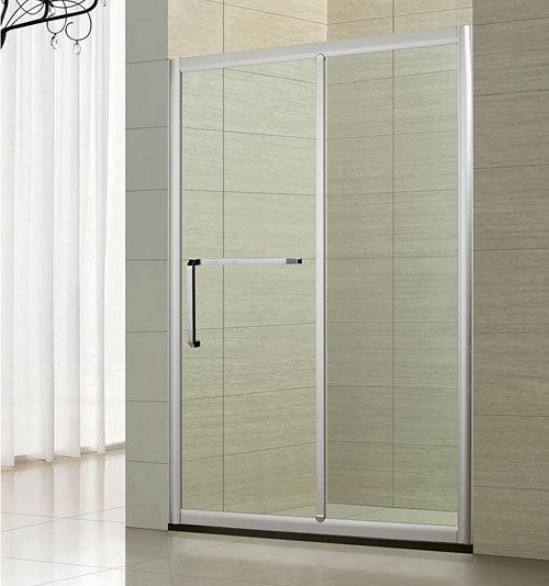 淋浴房隔断 一字型推拉门一固一移