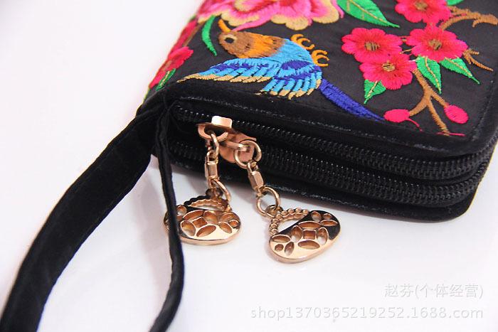 双层拉链彝族绣花钱包 最新流行 送礼 旅游用品图片,双层拉链彝族绣图片